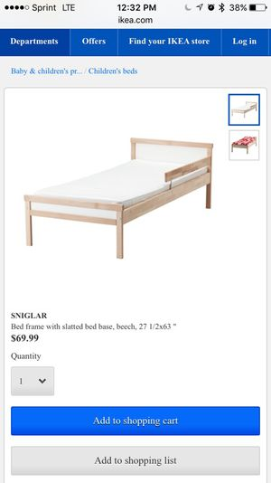 Toddler bed and matrress for Sale in Sudbury, MA