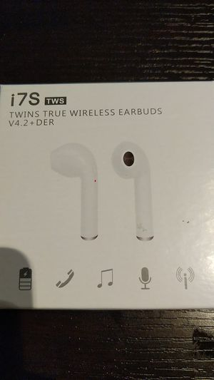 New black apple airpod style Bluetooth headphones for Sale in Rockville, MD