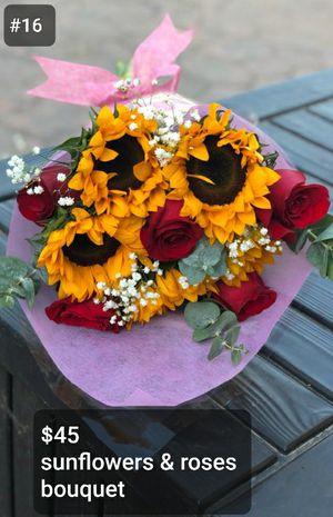 Sun flowers and primium roses🌹 bouquets for Sale in Norwalk, CA