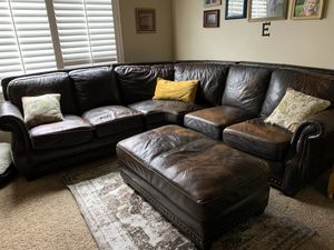 Leather sectional for Sale in Salt Lake City, UT