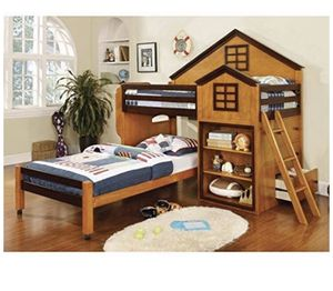 Youth Twin Bunk Bed - house shape for Sale in Upland, CA