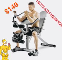 Olympic Weight Bench With Leg Developer Curl Yoke And Preachers Perch for Sale in Fort Lauderdale,  FL