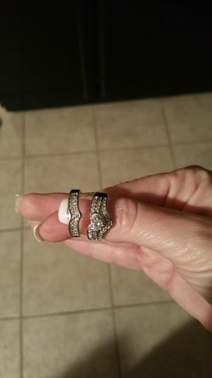 Gorgeous White GF and Sterling Silver Wedding Ring for Sale in Smyrna, TN