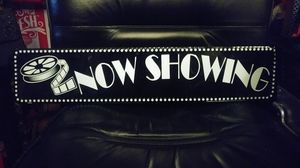 NOW SHOWING MOVIE THEATRE METAL SIGN for Sale in Los Angeles, CA
