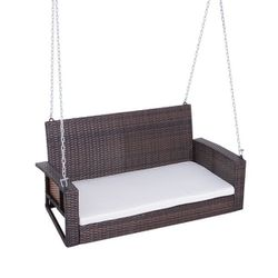 2-Person Outdoor Hanging Wicker Porch Swing Chair for Sale in Los Angeles,  CA