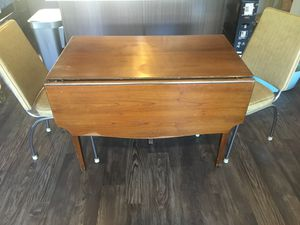 Drop leaf table & vintage vinyl chairs for Sale in Arvada, CO