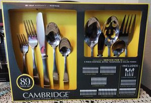 Cambridge 89pc Flatware Set (madison) Serves 12 for Sale in Sacramento, CA