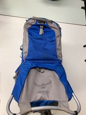 Osprey Poco Plus Baby Child Carrier Backpacking hiking camping Blue for Sale in Lake Forest, CA