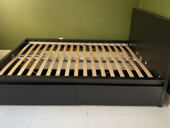 Black Queen Size Bed Frame for Sale in Rockville,  MD