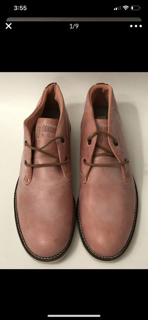 STEVE MADDEN, MEN'S 12- 45, ORIGINAL LIMITED EDITION 001/500, PEACH LEATHER LOW TOP BOOTS for Sale in Irvine, CA