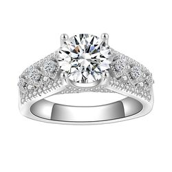 Beautiful Solid 925 sterling Silver Diamond Promise Engagement Wedding Ring 💍 By Rose 🌹 Heart ♥️ Box for Sale in San Jose,  CA
