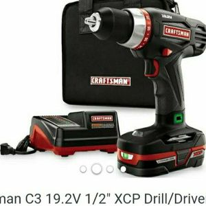 Craftsman XDP HEAVY DUTY 19.2volt Drill,Battery,charger,bag and drill set.. for Sale in Fort Myers, FL
