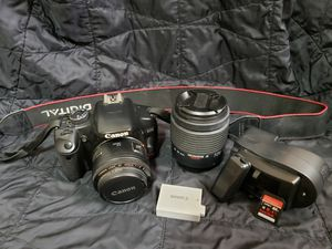 Canon Xsi DSLR camera w/ lenses and accessories for Sale in Stillwater, OK