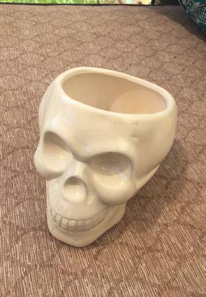 Ceramic skull planter/ garden pot for Sale in Stockbridge, GA