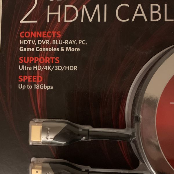 2 Ultra HD HDMI Cables 9ft