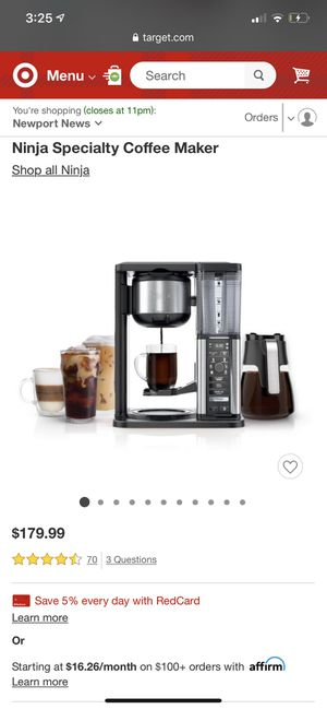 Ninja coffee maker for Sale in Newport News, VA
