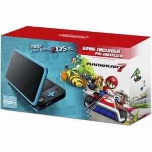 Nintendo 2DS XL Black/Turquoise Handheld Gaming System Mario Kart 7 NEW for Sale in Dunedin, FL