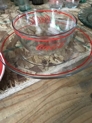 🥤Coca-Cola Plate & Bowl Set for Sale in Buckley, MI