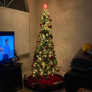 7 Ft Slim Christmas Tree With Lights for Sale in Glendale, AZ