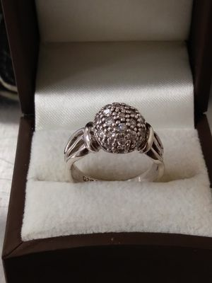 New Solid 925 Sterling Silver Pave Cubic Zircon ring size 7 $55 OR BEST OFFER for Sale in Paradise Valley, AZ