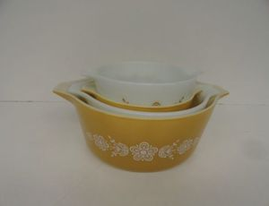 70's Vintage Pyrex Cinderella Butterfly casserole dishes for Sale in Dearing, GA