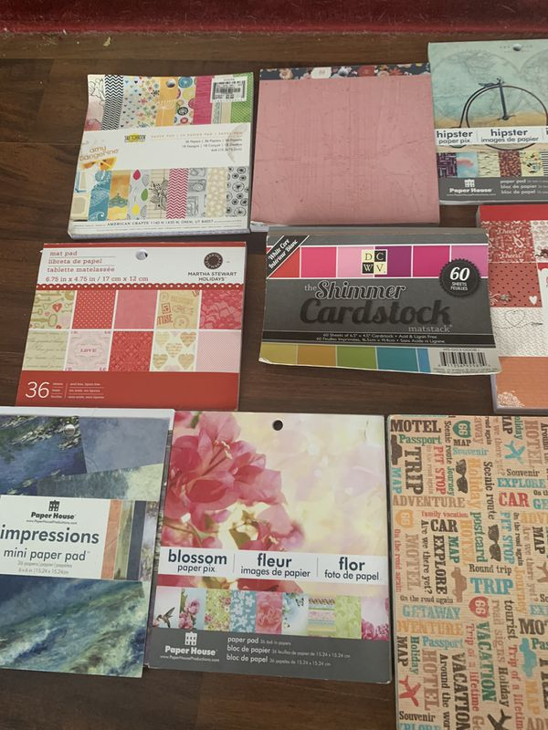 Scrapbook Paper Lot -Scrapbooking Supplies