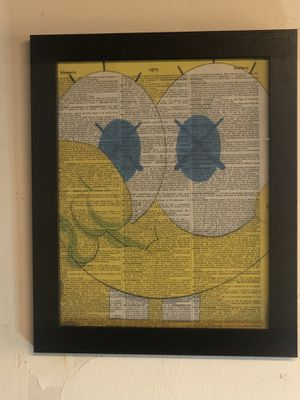 Kaws sponge bob / dictionary page wall art for Sale in Queens, NY