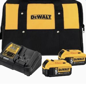 DEWALT XR 20-Volt Max 2-Pack 5Amp-Hour Lithium Power Tool Battery Kit (Charger Included) for Sale in Las Vegas, NV