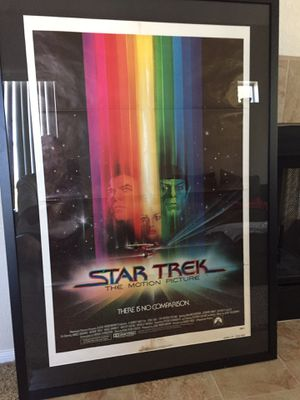 Star Trek The Motion Picture Original Movie Poster. Professionally framed. for Sale in Washington, DC