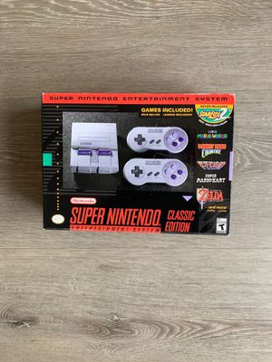 BRAND NEW SUPER NES CLASSIC!! MUST GO! for Sale in Los Angeles, CA