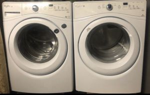 Whirlpool white front loader washer and gas dryer for Sale in Ceres, CA