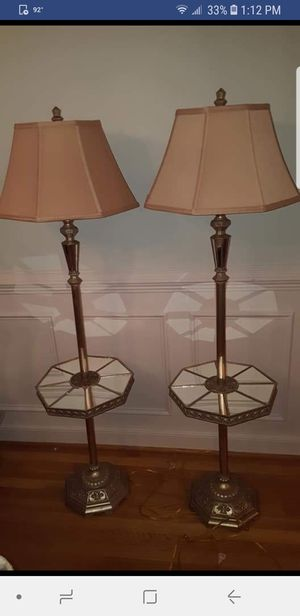 Set of 2 Mirrored floor lamps for Sale in Chester, VA