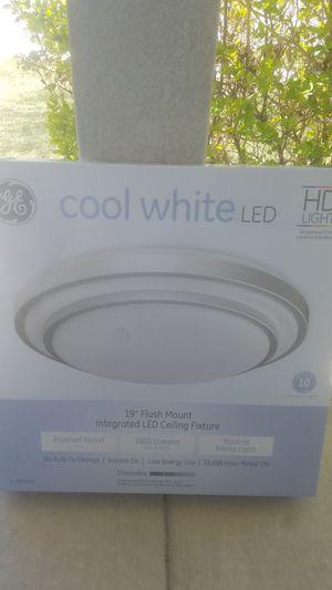 GE 19-in Brushed Nickel Traditional LED Semi-flush Mount Light for Sale in Herriman, UT
