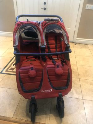 Double red citi mini stroller great condition minimally used at 275 or b/o for Sale in Los Angeles, CA