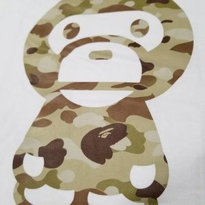 BAPE MILO Graduation Camo beige/white tee for Sale in Chicago, IL