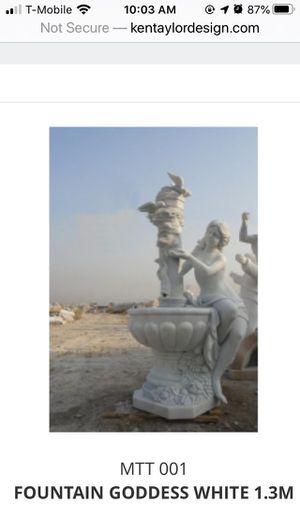 """White Fountain goddess 52""""H - No doves for Sale in Miami Gardens, FL"""