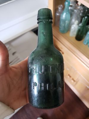 antique philadelphia squat soda bottle double taper top for Sale in Philadelphia, PA