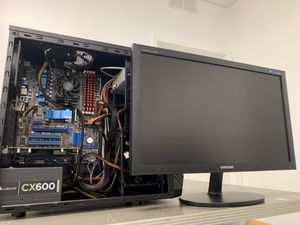 Gaming PC with Monitor for Sale in Munster, IN