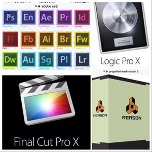 Adobe CS6 Master collection, Reason 5, for Mac/PC, Final Cut X, Logic Pro X 10.2, for Mac & more for Sale in Stockton, CA
