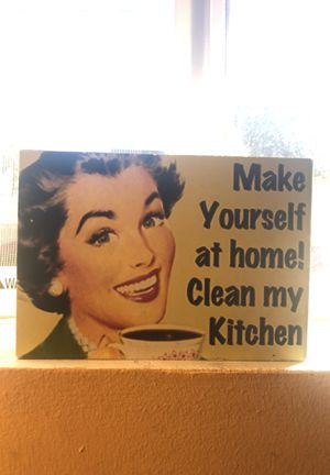 Make yourself at home! Clean my Kitchen. - Frame for Sale in Los Angeles, CA