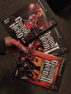 Guitar Hero Bundle PS2 for Sale in Las Vegas, NV