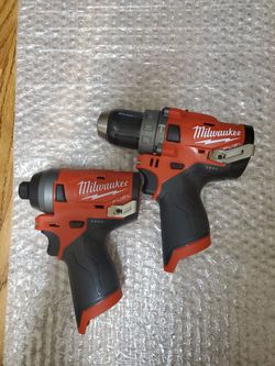 BRAND NEW, Milwaukee M12 FUEL 12-Volt Li-Ion Brushless Cordless Hammer Drill and Impact Driver Combo Kit (2-Tool-only) for Sale in Henderson,  NV