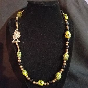 Green Swirl Clay Beaded Necklace for Sale in Edgewood, WA
