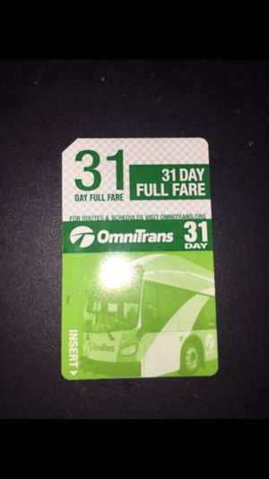 OMNI 31 Day FULL FARE PASS for Sale in Pomona, CA