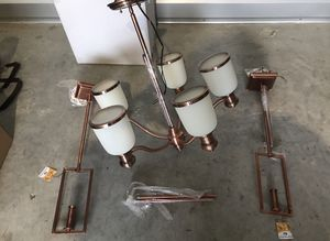 Kichler Copper Finish 5 light Chandelier for Sale in Portland, OR