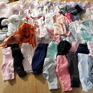 Lot Of Baby Girl Clothes 3 Month for Sale in Limerick, ME