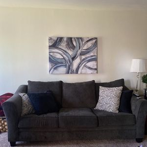 Grey Pull Out Couch for Sale in Costa Mesa, CA