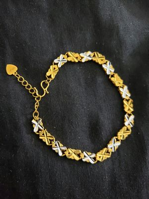 Bracelet silver and gold mix colour for Sale in Moreno Valley, CA