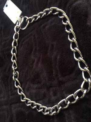 Chrome plated dog collar for Sale in Fresno, CA