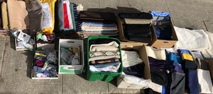 Huge FABRIC/TEXTILE Lot - Wool-Linen-Knits-Woven's-Satin-Crepe-Suiting Material-Poplins-Polyester-Cottons/Blends-Fleece + Trims! for Sale in Spokane, WA